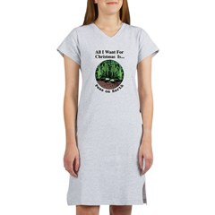 Xmas Peas on Earth Women's Nightshirt