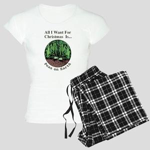 Xmas Peas on Earth Women's Light Pajamas