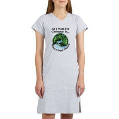 Christmas Peas Women's Nightshirt