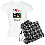 Love My Cows Women's Light Pajamas