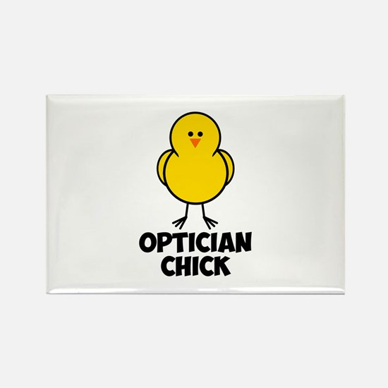Optician Chick Rectangle Magnet