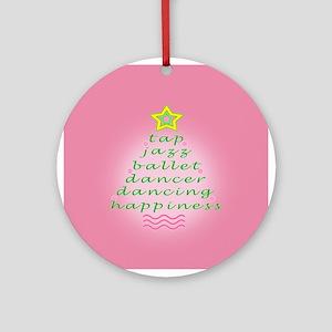 Mauve Dancers Christmas Tree Ornament (Round)