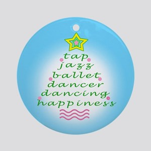 Aqua Dancers Christmas Tree Ornament (Round)
