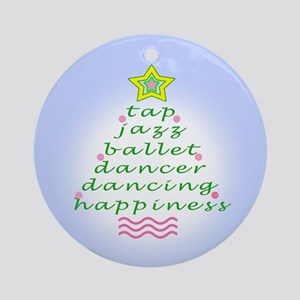 Blue Dancers Christmas Tree Ornament (Round)