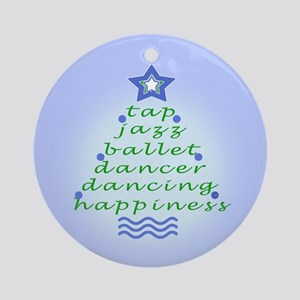 Periwinkle Dancers Christmas Tree Ornament (Round)