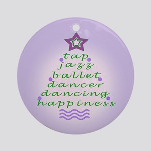 Lilac Dancers Christmas Tree Ornament (Round)