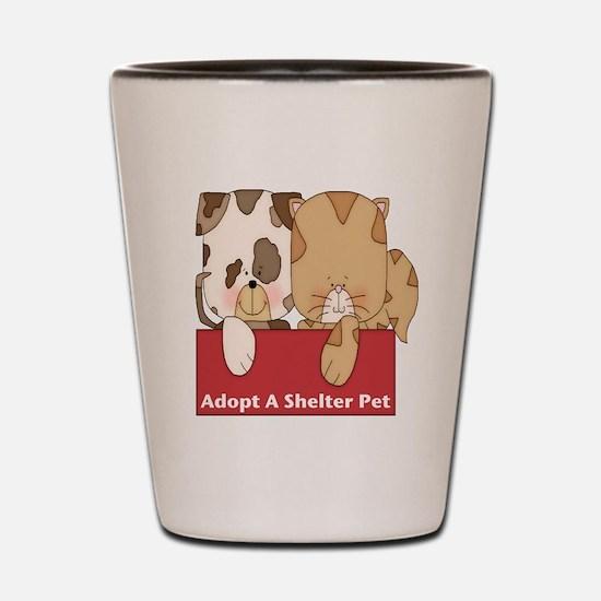Adopt Shelter Pets Shot Glass