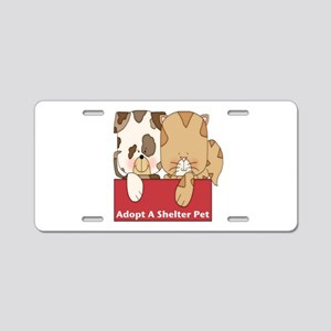 Adopt Shelter Pets Aluminum License Plate