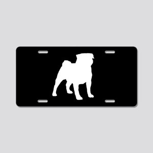 Pug SILHOUETTE Aluminum License Plate