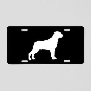 Rottweiler SILHOUETTE Aluminum License Plate