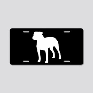 Pit Bull SILHOUETTE Aluminum License Plate