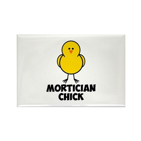 Mortician Chick Rectangle Magnet