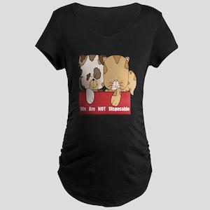 Pets Not Disposable Maternity Dark T-Shirt