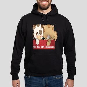 Pets Not Disposable Hoodie (dark)