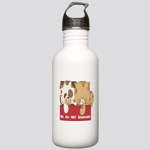 Pets Not Disposable Stainless Water Bottle 1.0L