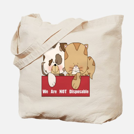 Pets Not Disposable Tote Bag