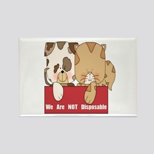 Pets Not Disposable Rectangle Magnet