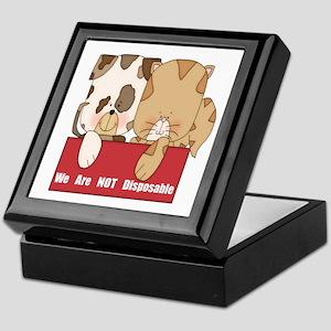 Pets Not Disposable Keepsake Box