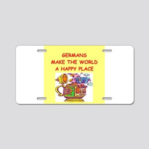 Happy germans Aluminum License Plate