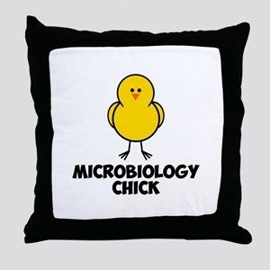 Microbiology Chick Throw Pillow