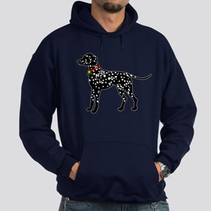 Christmas or Holiday Dalmatian Silhouette Hoodie (
