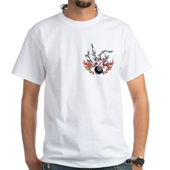 Bowl a strike White T-Shirt