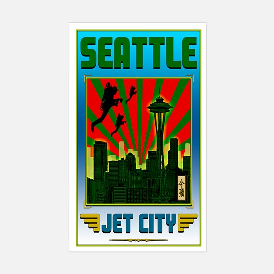 SEATTLE - JET CITY Sticker (Rectangle)