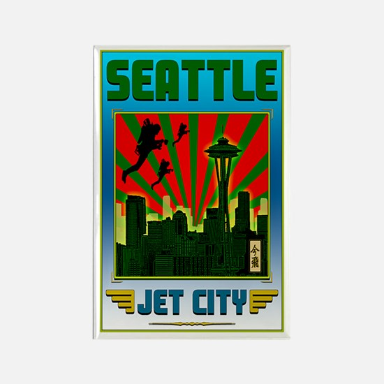 SEATTLE - JET CITY Rectangle Magnet