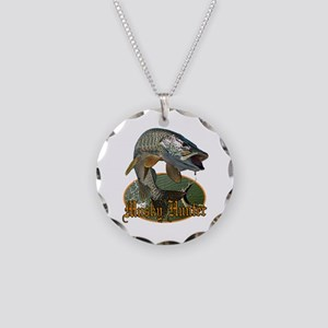 Musky Hunter 9 Necklace Circle Charm