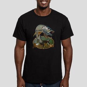 Musky Hunter 9 Men's Fitted T-Shirt (dark)