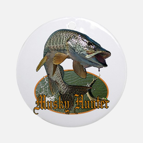 Musky Hunter 9 Ornament (Round)
