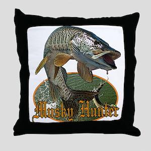 Musky Hunter 9 Throw Pillow