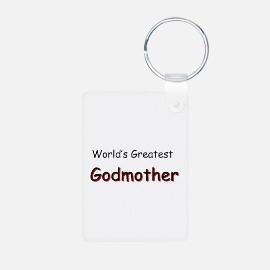 Greatest Godmother Aluminum Photo Keychain