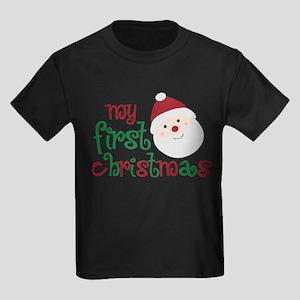 My First Christmas Kids Dark T-Shirt
