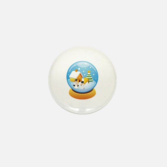 Snowglobe Mini Button