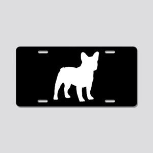 French Bulldog SILHOUETTE Aluminum License Plate