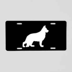 German Shepherd SILHOUETTE Aluminum License Plate