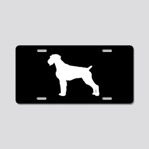 German Wirehair SILHOUETTE Aluminum License Plate