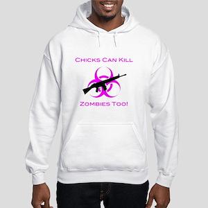 Zombie Chicks Hooded Sweatshirt