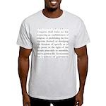 First amendment Ash Grey T-Shirt