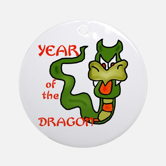 Year of the Dragon Cartoon Ornament (Round)