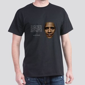 Values, Obama Quote Dark T-Shirt