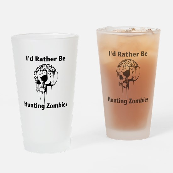 Hunting Zombies Drinking Glass