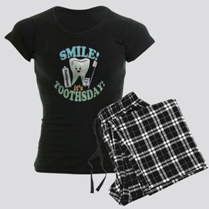 Smile It's Toothsday! Women's Dark Pajamas