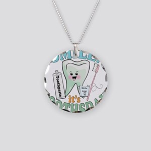 Smile It's Toothsday! Necklace Circle Charm