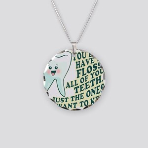 Funny Dentist Necklace Circle Charm