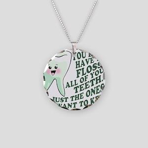 Encourage Dental Hygiene Necklace Circle Charm