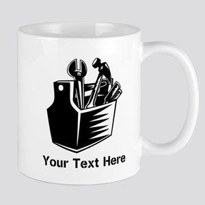 Tools with Text in Black. Mug