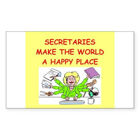 sexretaries Sticker (Rectangle 10 pk)