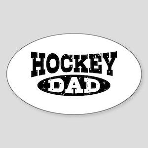 Hockey Dad Sticker (Oval)